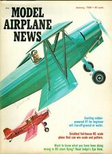 1968 Model Airplane News Magazine: Exciting Rubber-Powered FF/Small Full-House