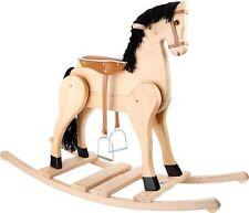 Schaukelpferd de Luxe Reitpferd Pferd Kinder Holz