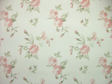 4 Metres Clarence Rose Floral Cotton Fabric Curtain Upholstery Cushions