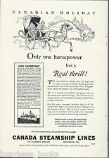 1930 CANADA STEAMSHIP LINES advertisement, horse & buggy