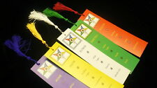 Candidate initiation member star point bookmarks Eastern Star five set OES favor