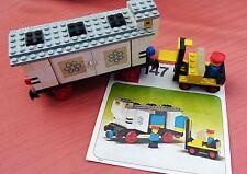 Lego Eisenbahn: Waggon Nr. 147 Kühlwaggon und Gabelstapler mit Bauanleitung