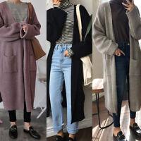 Fashion Women Long Sleeve Knitted Sweater Jumper Oversized Cardigan Outwear Coat