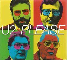 U2 - PLEASE 1997 UK CARDBOARD GATEFOLD SLEEVE CD SINGLE DIGIPAK ISLAND CID 673
