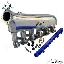 Intake Manifold Plenum + Fuel Rail Fits BMW E30 M20 320i / 325i 1987-1991 Blue