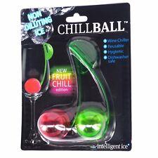 NOVEDAD Vino Enfriadores - 3 Packs de de 2 FRUTA diseño Chillballs REUTILIZABLE