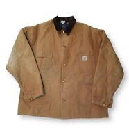 Vintage Carhartt Mens XL or XXL Duck Canvas Blanket Lined Jacket