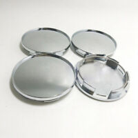 4Pcs Universal 68mm Chrome Silver Car Wheel Center Hub Caps Covers No Logo Kit