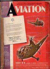 1945 Aviation June-Helicopter design details; Gas turbines; Skyhopper; Blackburn