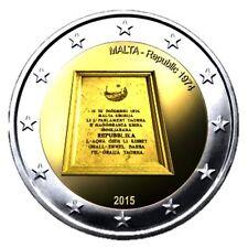 Pièces euro de Malte pour 2 euro année 2015