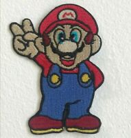 Super Mario Video Game Peace Win Embroidered Iron Sew On Patch j1616