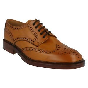LOAKE CHESTER 2 MENS LACE UP CALF LEATHER WELTED SOLE FORMAL OFFICE BROGUE SHOES