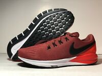 Men's Nike Air Zoom Structure 22 Cedar/Black-Bright Crimson AA1636-600 SIZE 8.5