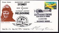 "Australia 1980 Southern Cross Air Race - Pioneer Aviator - ""Bunny"" Hammond Cover"