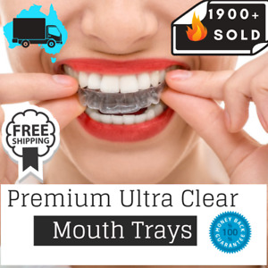Teeth Whitening Mouth Trays Custom Self Mould Thermo Plastic Ultra Clear Guards