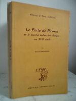 El Pact Ricorsa Y El Mercado Italiano Las Changes Mandich Giulio 1953