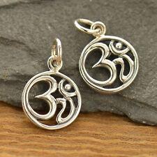 Yoga Jewellery Spiritual Ohm Om Aum 925 Sterling Silver Pendant Charm Zen 1626