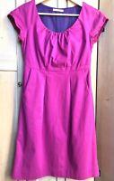 Ladies White Stuff Dress Size 10 UK Pink Purple Magenta Shift With Pockets