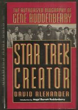 DAVID ALEXANDER Star Trek Creator. Biography of Gene Roddenberry 1st ed HC/DJ