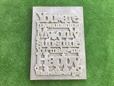 You are My Sunshine Plaque Sign Mould Concrete Garden Ornament Mold