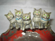 Antique Georg Heyde cold painted metal cats figurine