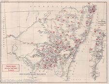 New South Wales Railways Map..Showing the Lines in Use in 1931 A2 size copy