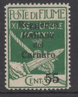 ITALY FIUME Sass. n.142 cv 75$  MNH**  super centered