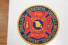 Fire Patch  Ste. Genevieve County Fire Fighters Association  Missouri