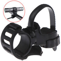 1Pc 360°Adjustable Bicycle Bike Flashlight Torch Clamp Clip Mount Bracket Holde-
