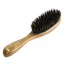 Hairbrush Pure Boar Bristle Handmade Green Sandalwood Handle Tan Mujiang