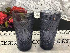 "Set of 2 Luminarc Cristal D' Arques ""Antique"" Purple Tumblers 6 1/8"""