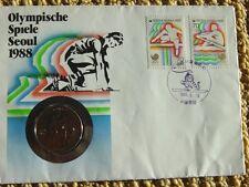 COIN COVER - FDC - Olympics Seoul Korea 1988