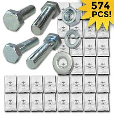Grade 10.9 Metric Hex Cap Screws Hex Bolts, Nut, Washer Assortment Kit - 574 PCS