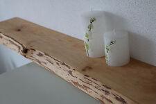 Wandboard Erle Massiv Holz Board Regal Steckboard Regalbrett Baumkante Brett NEU