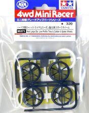 Tamiya 95371 Mini 4WD 6-Spoke Carbon Reinforced Wheel w/Large Low Profile Tires