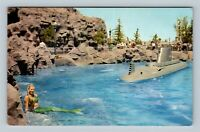 "Disneyland CA-California Postcard ""SUBMARINE MERMAID"" Tomorrowland #E-9 c1959"