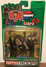 GI Joe Spy Troops Beachhead vs Cobra Sand Viper Action Figures 2-Pack Hasbro NEW