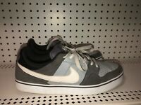 Nike 6.0 Mens Leather Athletic Skate Shoes Size 11 Gray White