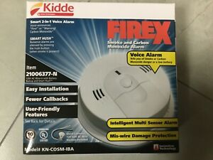 LOT OF 12 Smoke and Carbon Monoxide Alarm Hardwired Interconnectable KN-COSM-IB