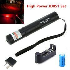 JD851 Military High Power Red Laser Pointer Pen - Battery & Charger AU Adapter