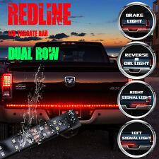 "60"" Double Row Truck Tailgate LED Strip Light Bar Red White Turn Brake Signal"