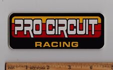 PRO CIRCUIT RACING Vintage Motocross STICKER Decal Honda Suzuki Yamaha Kawasaki