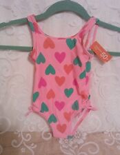 Adorable Joe Fresh 1 yr./12 months Baby Girl Swimsuit Pink with hearts NWTs !