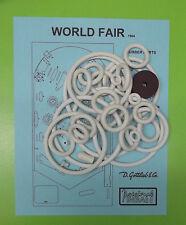1964 Gottlieb World Fair pinball rubber ring kit
