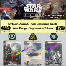 STAR WARS LEGION 2018 GROUND ASSAULT SEASON 2 OP KIT - Promo Cards and Tokens
