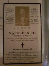Napoléon lll faire part décès
