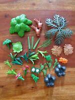 Playmobil vintage lot de végétaux fleur arbre feuille cactus branche feu de bois
