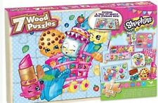 Shopkins 7 Wood Puzzle Pack - New