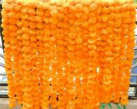 50 PC Indian Artificial Marigold LOT Garland wedding Colorful Flower Decorations
