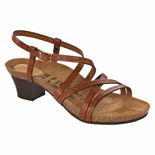Women's Leather Ankle Strap Sandals